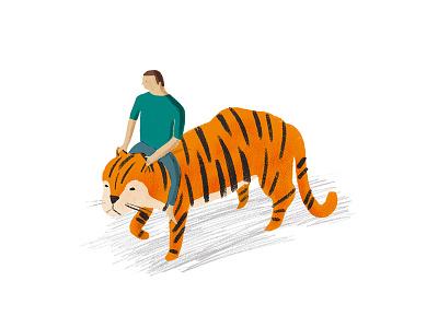 Tiger Ride london melbourne hand drawn photoshop design agency illustrator illustration