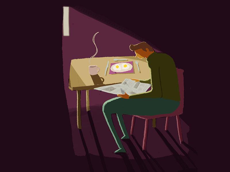 Morning News london melbourne hand drawn photoshop design agency illustrator illustration