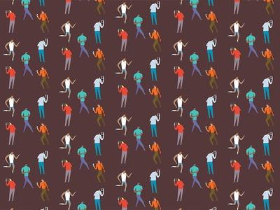 People Pattern london melbourne hand drawn photoshop design agency illustrator illustration