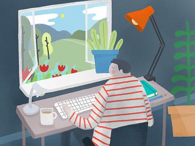 Working Window london melbourne hand drawn photoshop design agency illustrator illustration