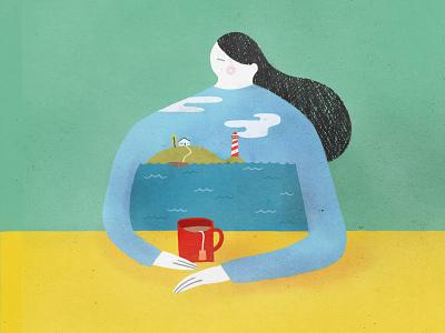 Sea Shirt london melbourne hand drawn photoshop design agency illustrator illustration