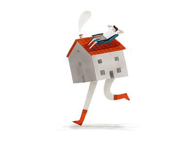 Moving House london melbourne hand drawn photoshop design agency illustrator illustration