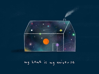 My Home Is My Universe character lifestyle editorial texture colour creative foliage plants illustration