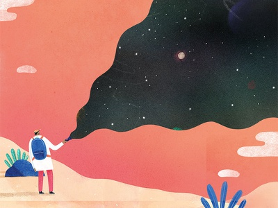 Unexpected Discoveries 1 texture creative melbourne illustrator design illustration art