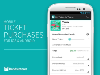 Announcing Mobile Ticket Purchases