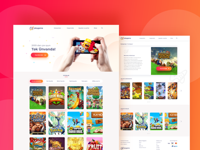 Playgame Website games game website inspiration website web ux ui design