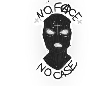 Balaclava riot slogan no face no case