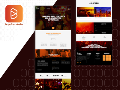 UI WEBSITE BOX STUDIO