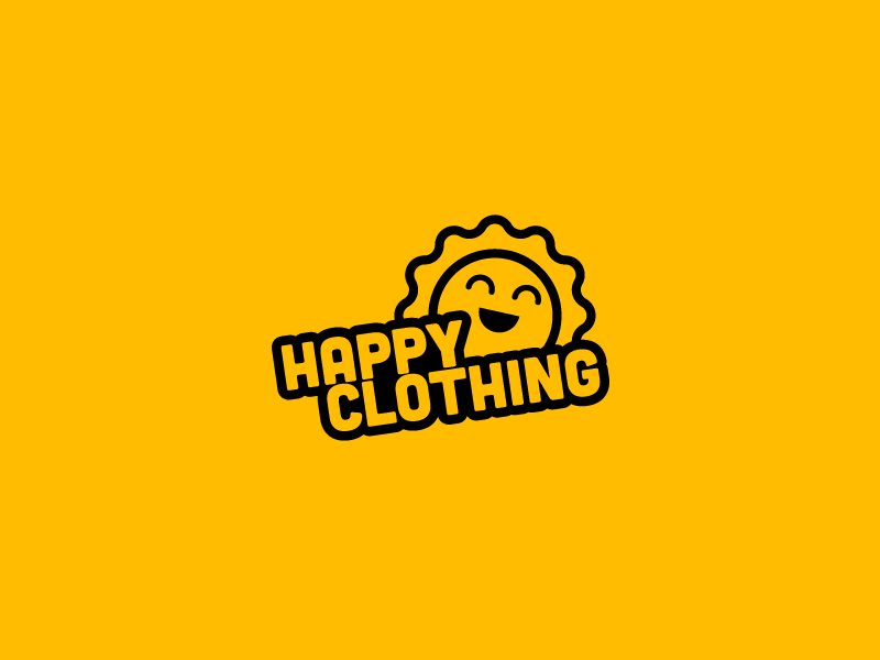 HAPPY CLOTHING OPTION LOGO overlay studio vietnam logo learn logo new brand design branding indentity happy logo fashion logo baby logo mascot logo cute logo sun icon sunshine logo sun logo