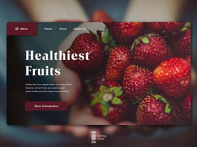 Healthiest Fruits Website typography logodesign branddsign logodesigns logolearn brandnew illustration design branddesign branding ui design fruit brand vietnam website mobile design mobile ui kit ui web design layoutdesign web design uiux
