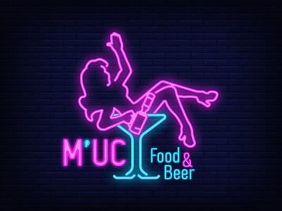 M'UC Food & Beer Logo logodesign icon app vector typography ui style design illustration fashion brand brandnew logonew branddesign branding vietnam vintage logo retro logo beer logo logo learn logo