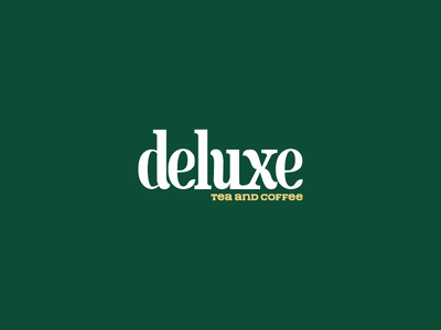 Deluxe logo on green background fashion logo illustration app design animation forest logo style ui typography namecard logodesign vietnam branddsign logolearn logo logodesigns logonew branddesign branding brandnew type
