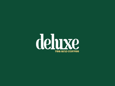 Deluxe logo on green background