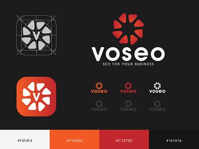 VOSEO LOGO icon namecard design typography type logo vietnam logodesign logodesigns logolearn fashion brand branddsign brandnew branding branddesign logonew marketing logo learn seo logo v logo