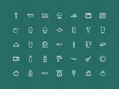 Sketchy Kitchen Icons restaurant drawn sketch iconset icons cooking kitchen
