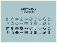 Multimedia Iconset