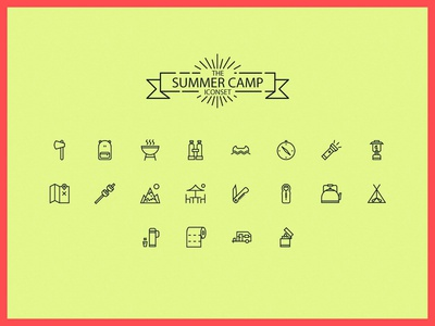 Camping Iconset Web outdoor camping summer iconset icons