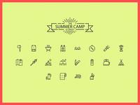 Camping Iconset Web
