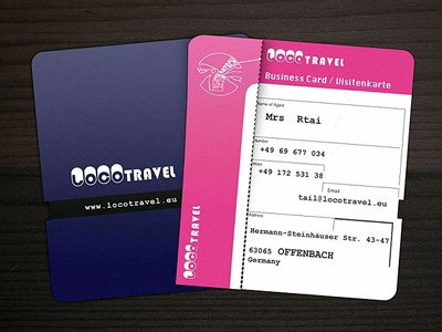 Business card as a boarding card corporate design business card