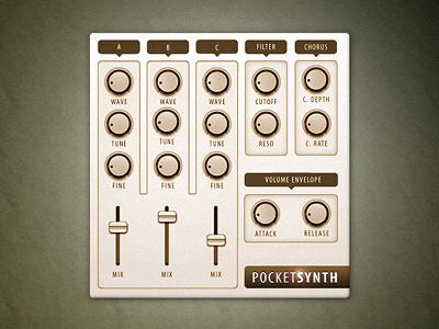 Smart Synthesizer Interface userinterface interface synthesizer ui reaktor