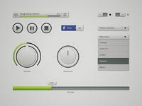 Interface Elements Musicplayer