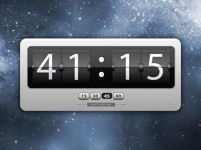 Mac Sleep Widget widget interface design