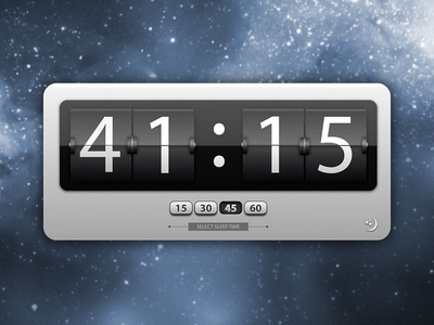 Mac Sleep Widget widget interface design