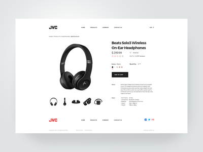 Single Product Page Design free debut ux ui corporate template flat clean simple minimal online store webshop design