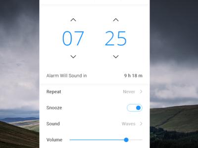 Alarm Clock - Edit Mode iphone simple ux ui ios minimal flat clean widget app clock alarm