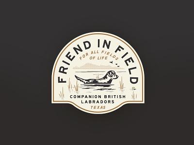 Friend in Field Branding dog outdoors identity brand branding badge logo design