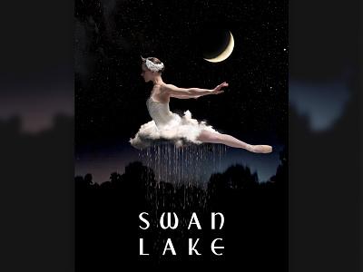 Swan Lake photoshop design digital illustration digital art collage ballet