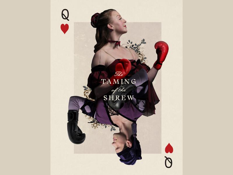 Taming of the Shrew art playing card digital collage digital illustration digital art design ballet