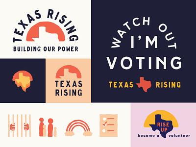 Texas Rising political action non-profit design branding
