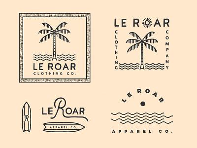 Le Roar Logo Discards rejects branding design logo