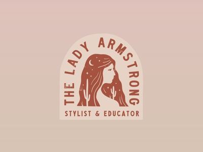 The Lady Armstrong stylist illustration texas design brand identity branding logo