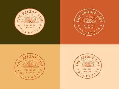 The Bright Side wellness sun logo design design identity brand branding logo