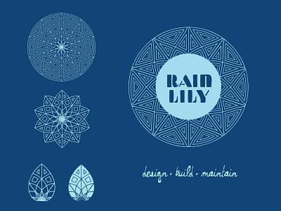 Rain Lily signage logo design design brand identity branding logo