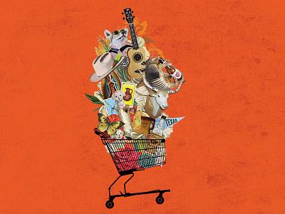 ARRIVE Hotel - Shopping collage digital art shopping illustration digital collage