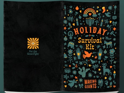 Waking Giants Survival Kit texas book design social justice holidays christmas illustration book design