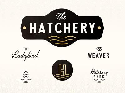The Hatchery Branding lbj hatchery real estate signage design logo identity branding