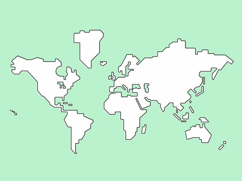 Simple World Map by Skylar Hogan | Dribbble | Dribbble