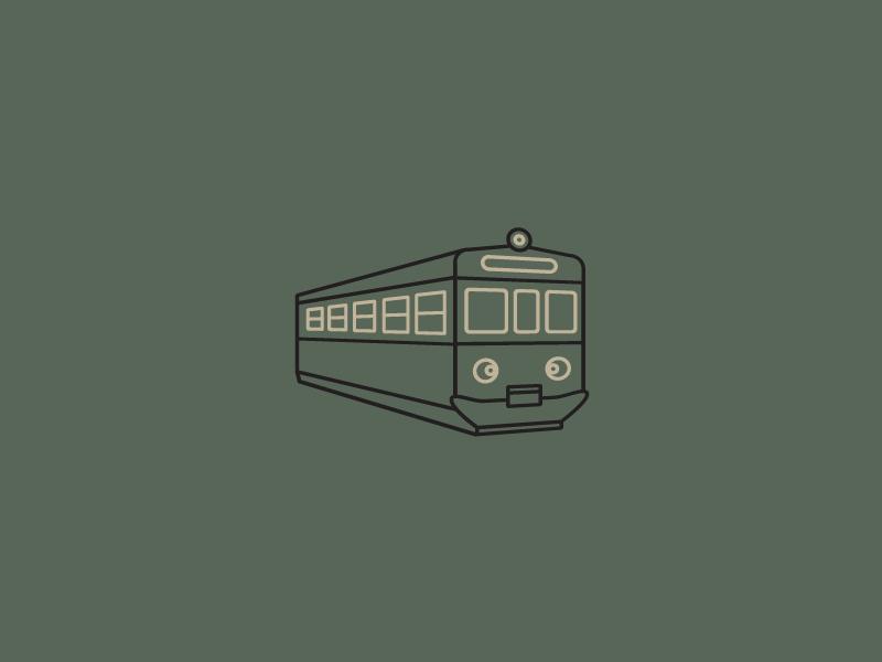 Train icon outline poland polish green outline logo icon retro legend transport car subway train