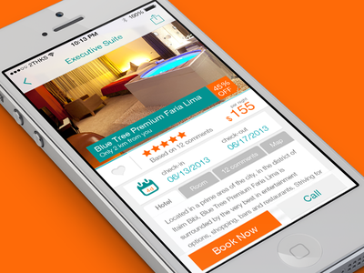 My Hotel App app ios hotel orange white