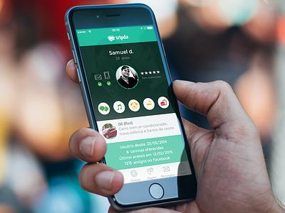 Tripda for iOS tripda ride lyft profile ios iphone6