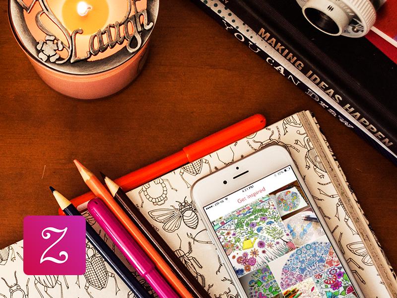 Zen Inspiration for iOS zen ios inspiration colouring photography