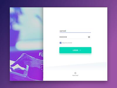 Login - Material Design green purple material design android login