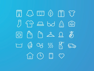 Icons Laundry vector svg website icons