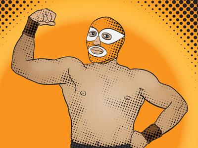Lucha Libre vector illustration lucha libre comic wrestling