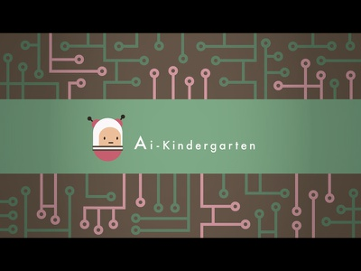 Ai Kindergarten cute character design robot ai