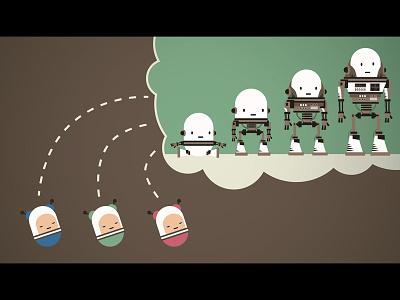 Ai Kindergarten ai character design cute robot